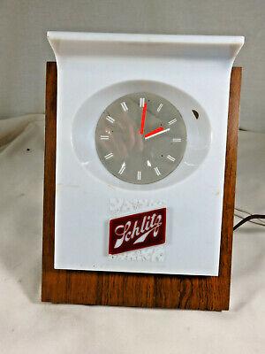 Vtg 1960s Schlitz Beer Cash Register Display Lighted Floating Clock for PARTS