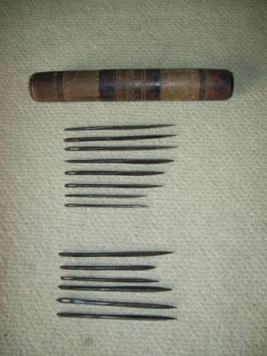 set of 14 wrought iron Maritime Sail repair needles whaling early 1800