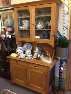 Kauri Pine Glass Top Kitchen Dresser Campbell Town Northern Midlands Preview