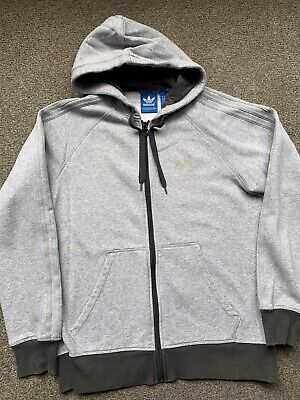 Mens Adidas Hoodie Top. Grey. Medium.