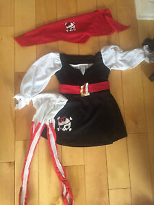 Déguisement pirate fille costume girl 2-3T