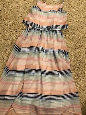 Nautica Dress Size 8 Girls/sleeveless/pastel Stripes