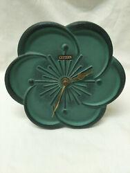 Vintage CITIZEN Japan Cast Iron Table Clock