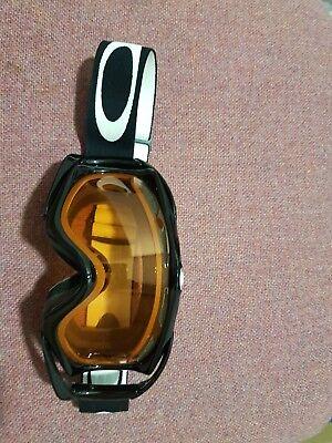 oakley ski/snowboard goggles black frame with orange lenses downhill mtb