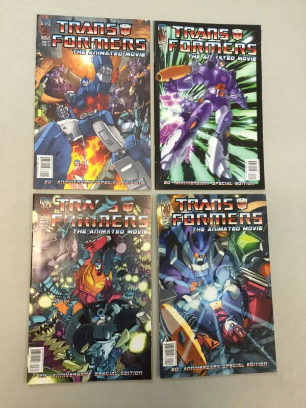 Transformers The Animated Movie 1-4 Complete Set 1 2 3 4 IDW Comics 2006 (TF05)