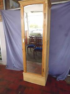 Wardrobe Single Door Baltic Pine  with Mirror, 370005 Lane Cove Lane Cove Area Preview