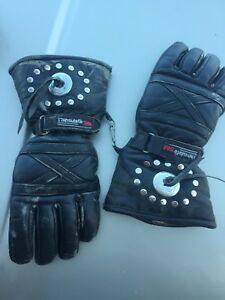 XL Leather motorcycle riding gloves