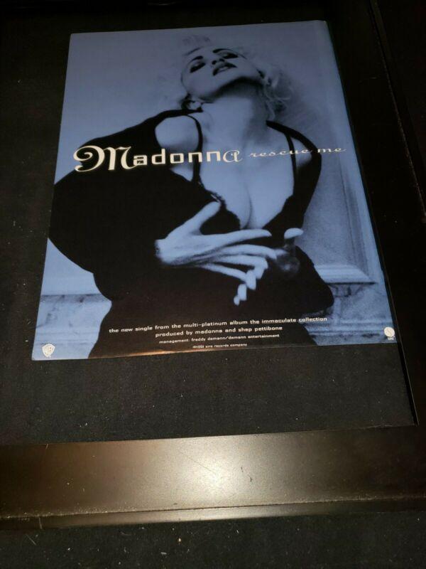 Madonna Rescue Me Rare Original Promo Ad Framed!