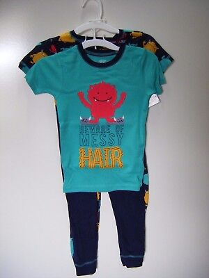 Carters Just One You 4 Piece Messy Hair Monster Boys Snug Fit Pajama Set