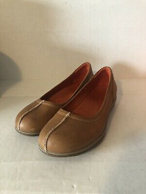 Acorn Lite Comfort Whisky Leather Ballet Flats 7