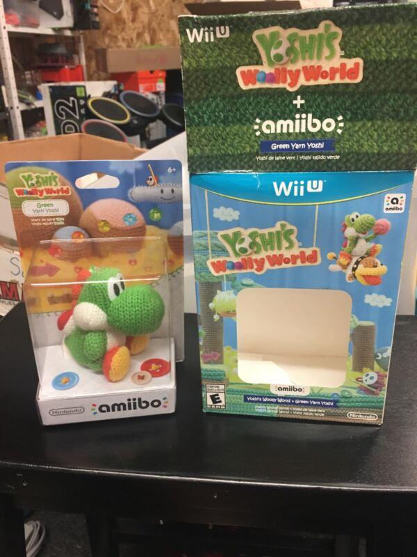 Yoshi's Woolly World with Yoshi amiibo Figure Bundle Nintendo Wii U WUPQAYCE