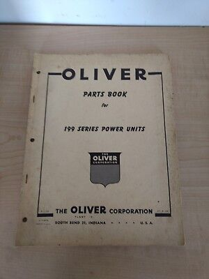 Oliver Parts Book For 199 Series Hcdiesel Power Units Tractor Manual