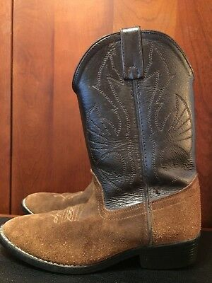 c5b86a4a9 Cowboy Boots, ACME, Size 4-5, Leather Upper and Golden Suede Bottom, 1
