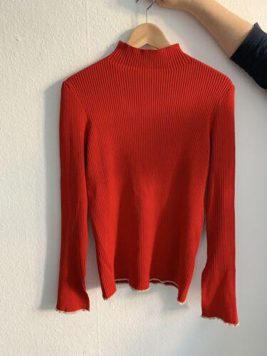 Zara Pullover Rot Gr M Glockenärmel Ausverkauft Lykke Li Konzert Outfit
