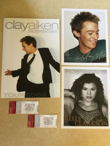 Clay Aiken - Independent Tour Concert Program - Tickets, Photo's - FREE SHIPPING