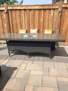 Rattan outdoors table