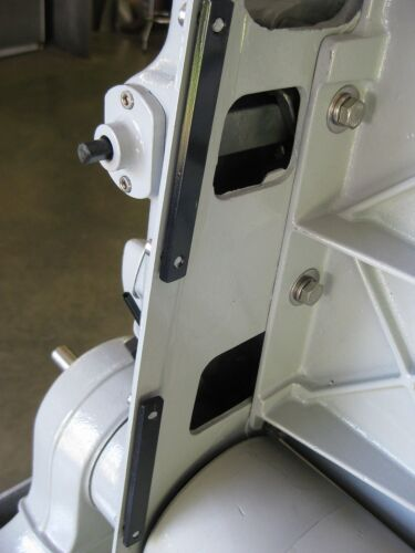 REAR BELT GUARD CLAMP BARS - FOR A VINTAGE DELTA 6 X 48 BELT SANDER