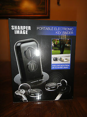 BRAND NEW IN BOX  SHARPER IMAGE PORTABLE ELECTRONIC KEY FINDER