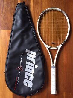 """Prince """"Warrior"""" tennis racquet with cover"""