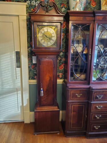 George III English Grandfather 8-day Clock c. 1775 - Burl Walnut - Runs Great!