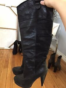 Black size 10 leather boots