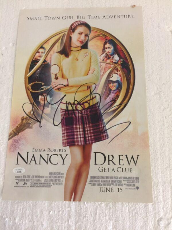 Nancy Drew, Emma Roberts Autographed Full Page Promotional Ad JSA COA