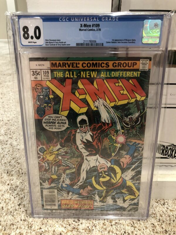 X-Men 109 CGC 8.0 Newsstand White Pages Uncanny Alpha Flight Wolverine