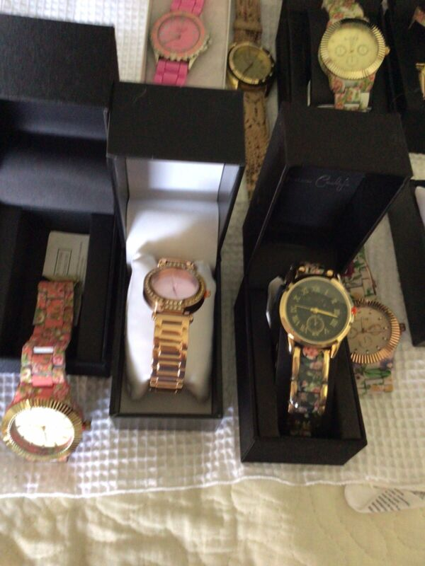Lot of 9 Women's Untested Watches for Parts, Repair, Resale or Wear All New