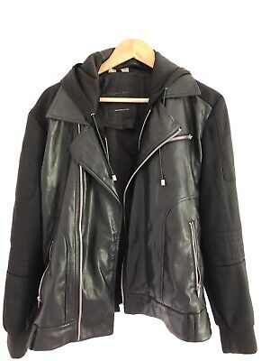 Zara Mens Half Leather Jacket - Eu Size L - Mint Condition