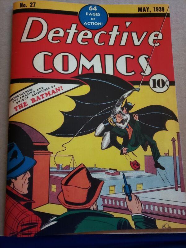 1st Batman Detective  comics  27 Custom Made Cover REPRINT