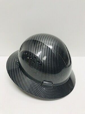 Fiberglass Hard Hat Blacksilver Cool Air Flow With Fas-trac Suspension