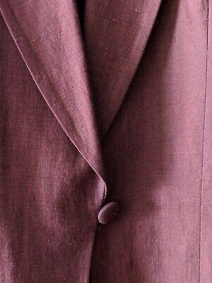 Vtg Emanuel Ungaro Wine Silk + Linen Menswear Styled Pants + Jacket Seamed Suit Suiting Menswear Pant