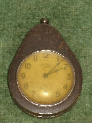 Vintage Ingersoll Crown Pocket Watch in Protective Case - Mining or Military