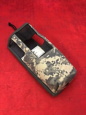 HARRIS RF Communications Digital Camo ACU Radio Pouch RF-5932-CA001 Great Cond.