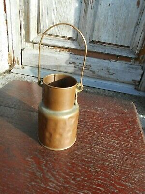 vintage French small copper milk churn hand hammered no lid