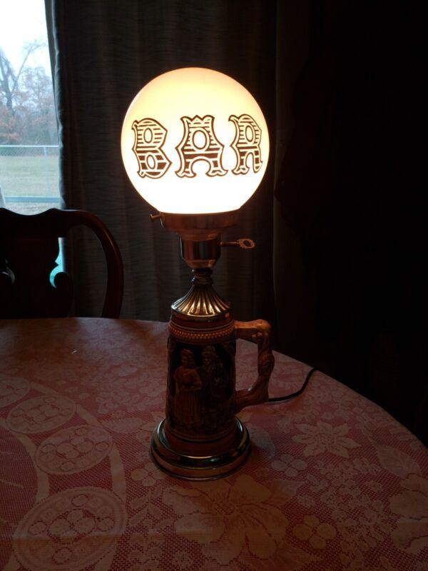 Vintage Beer Stein Bar Lamp