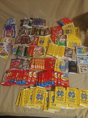 252 new packs of Baseball,football,basketball, soccer& mixed odd ball cards