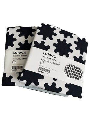 """2! IKEA Lurvig Pet Bed Cover Cat Dog White Black Cover You Fill _ 13.75"""" x 20.5"""""""