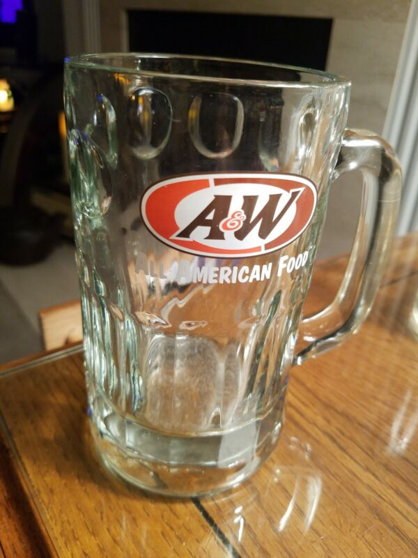 """A & W """"ALL AMERICAN FOOD"""" LARGE 12 OZ.  DRINKING GLASS STEIN/MUG"""