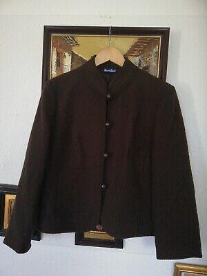 Damen Vintage Jacke Wolljacke Trachten Jacke in Braun - Vintage Damen Trachten