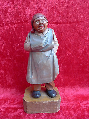 Beautiful, Old Wooden Figure__Carved and Painted __ South Tyrol __