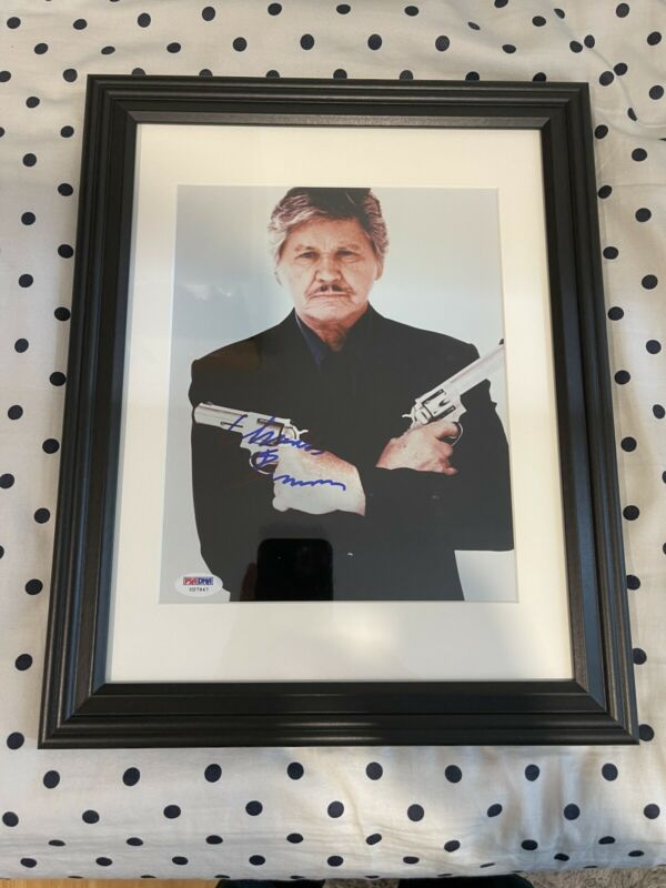 Charles Bronson Signed Photo 8x10 Framed Machine Gun Kelly Autograph Psa/dna
