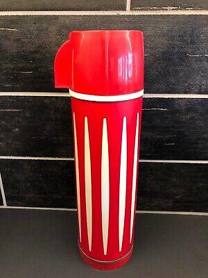 Vintage Universal Red White Diamond Retro Vacuum Bottle Thermos 10 oz