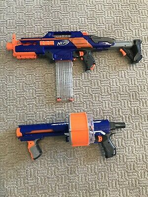 Nerf CS-18 Rapidstrike and Nerf Rampage Eite Comes With 25 Bullets Free Shipping
