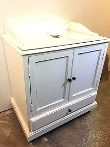 Farmhouse style vanity cabinet