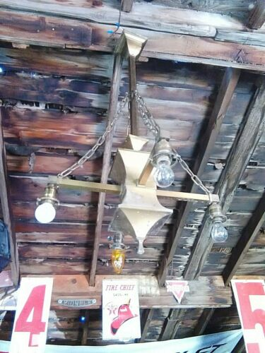 Antique Arts & Crafts Ceiling Light 4 Arm