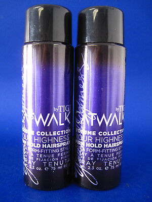 (TIGI CATWALK VOLUME COLLECTION FIRM HOLD HAIRSPRAY 2.3 OZ (LOT OF 2) dented)