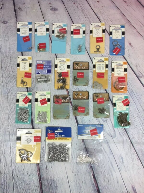 Jewelry Making Craft Supply Lot New in Original Package - Clasp Connectors Etc 2