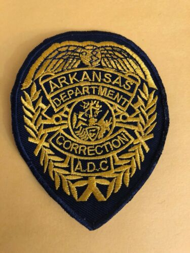 ARKANSAS DEPARTMENT OF CORRECTIONS POLICE PATCH IRON ON OR SEW ON