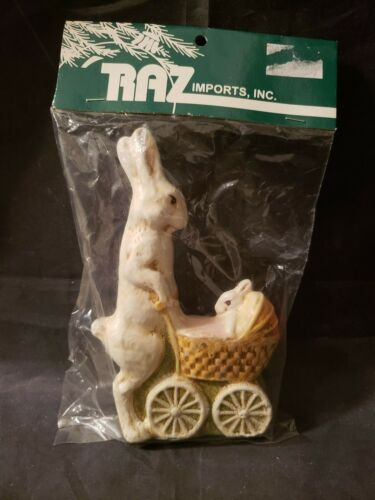 "RAZ IMPORTS INC PAPER MACHE EASTER BUNNY - 5 1/2"" TALL"
